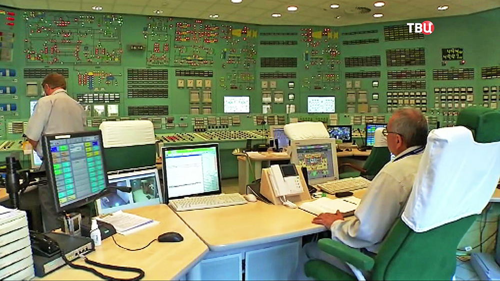 Работа центра управления АЭС