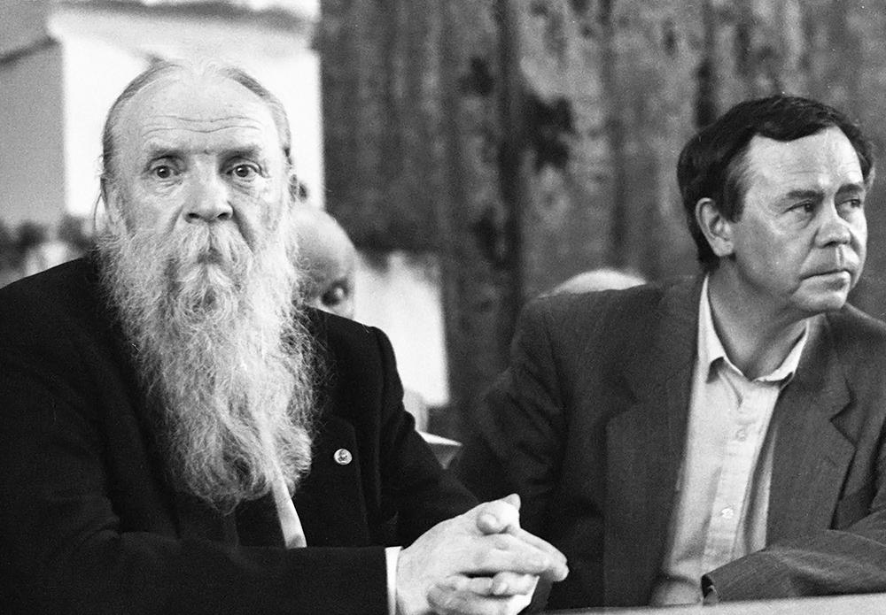 Языковед академик Никита Ильич Толстой и писатель Валентин Григорьевич Распутин
