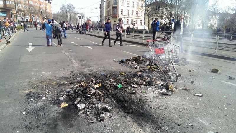 Франкфурт-на-Майне приходит в себя после беспорядков