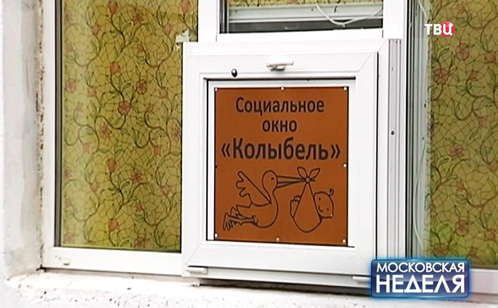"""Социальное окно """"Колыбель"""""""