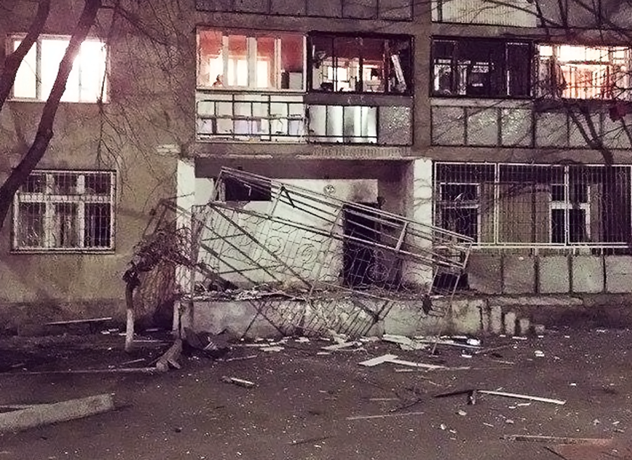 Последствия взрыва в Одессе