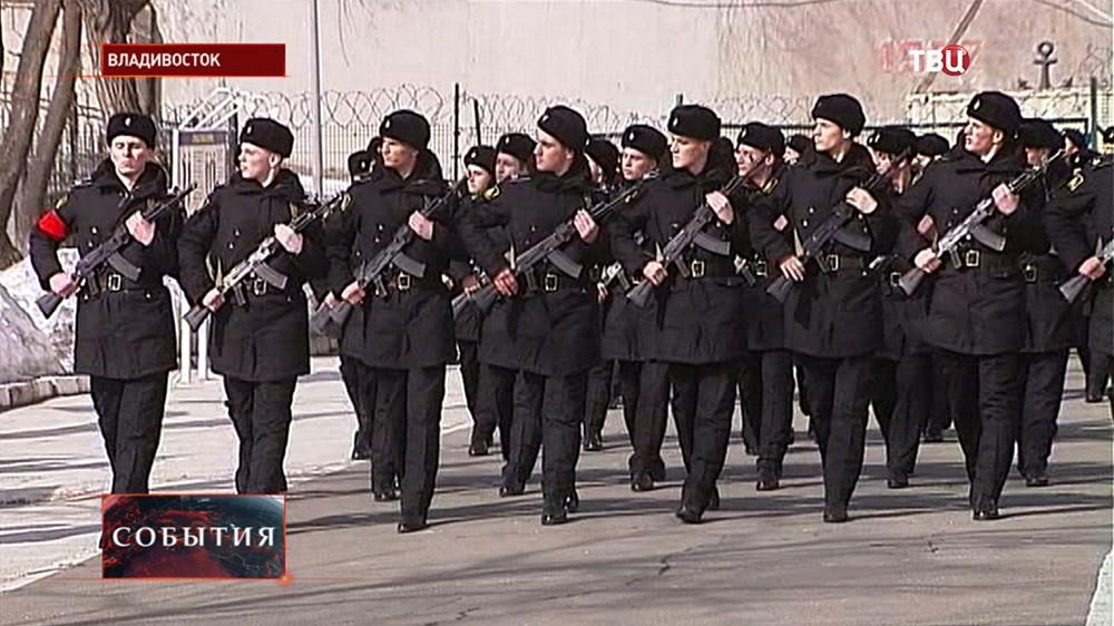 Курсанты ТОВВМУ отправились в Москву для участия в Параде 9 мая