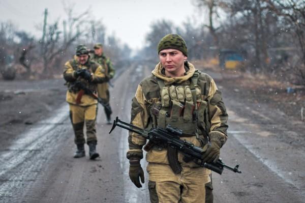 Бойцы народного ополчения Донбасса