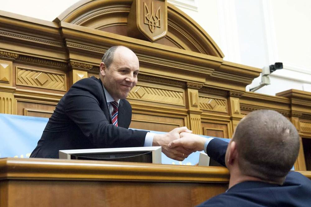 Андрей Парубий на заседании Верховной рады Украины