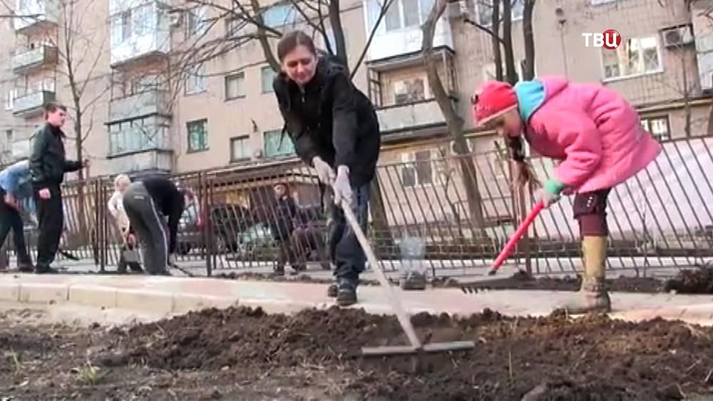 Субботник в Донецке