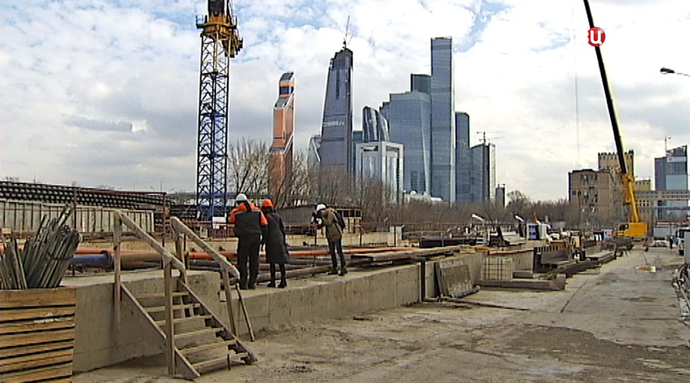 """Строительство станция метро """"Шелепиха"""""""