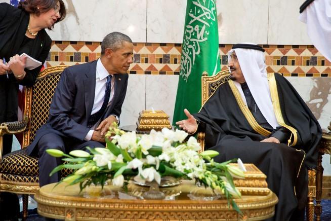 Президент США Барак Обама и и король Саудовской Аравии Салман ибн Абдул-Азиз Аль Сауд