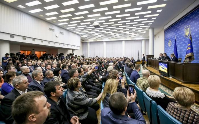 Пресс-конференция Петра Порошенко в Днепропетровской области