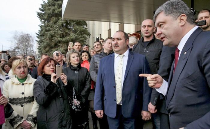Президент Украины Петра Порошенко в Днепропетровской области