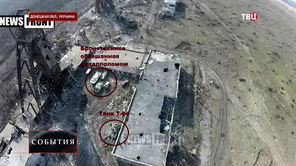 Спрятанная украинская военная техника