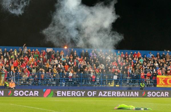 Болельщики Черногории