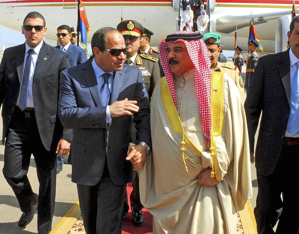 Президент Египта Абдель-Фаттах аль-Сиси и президент Йемена Абд-Раббо Мансур Хади
