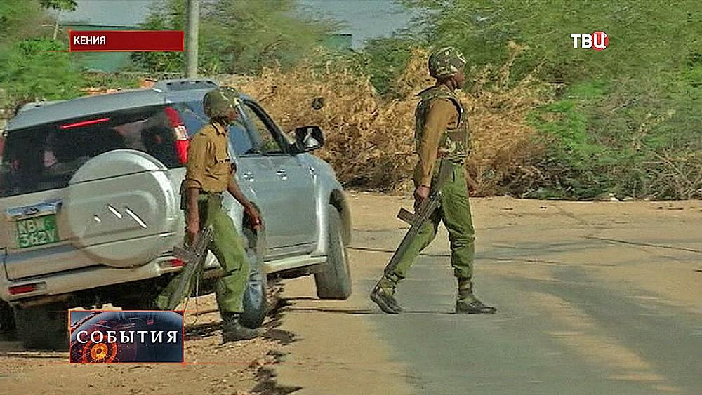 Место стрельбы в Кении