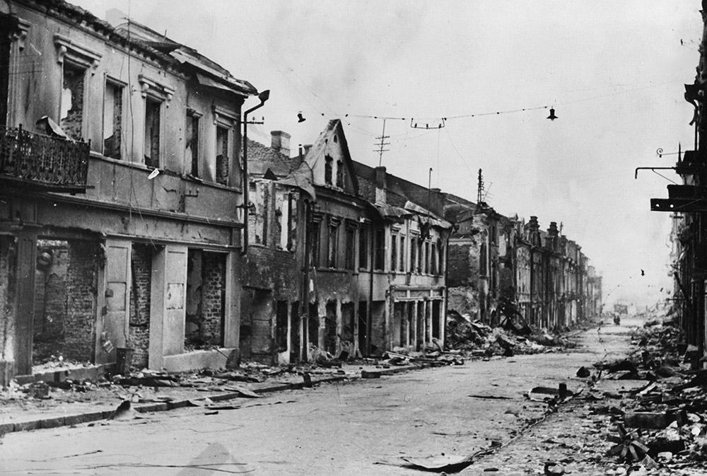 Разрушенные дома Минска