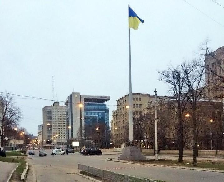 Подрыв стелы в Харькове