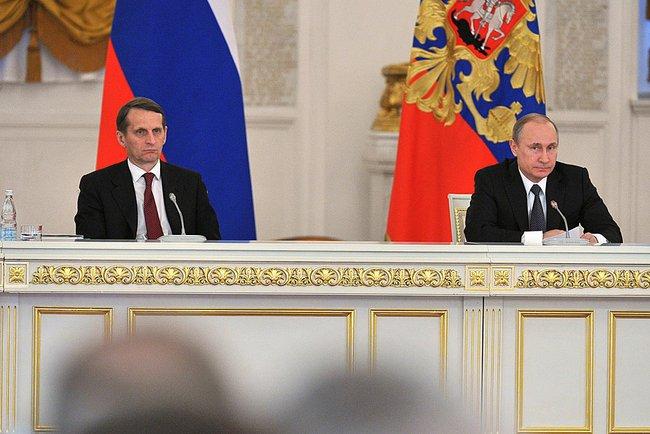 Сергей Нарышкин и Владимир Путин