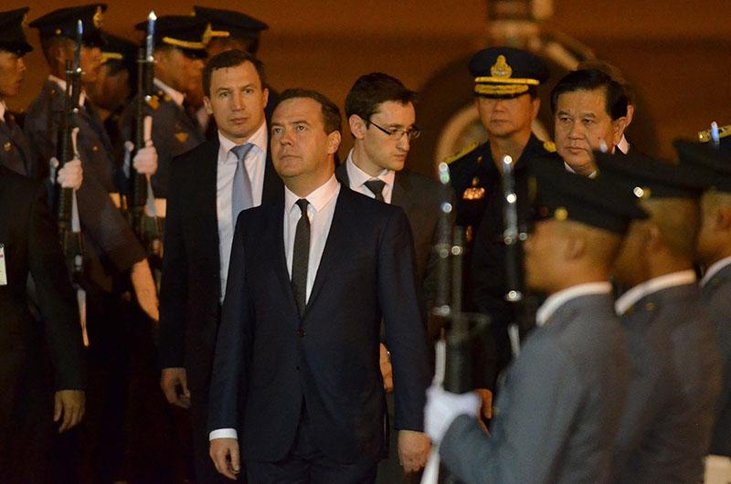 Дмитрий Медведев прибыл в Бангкок