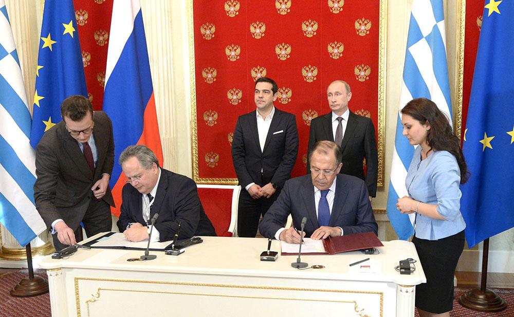 Главы МИД России и Греции подписывают соглашения