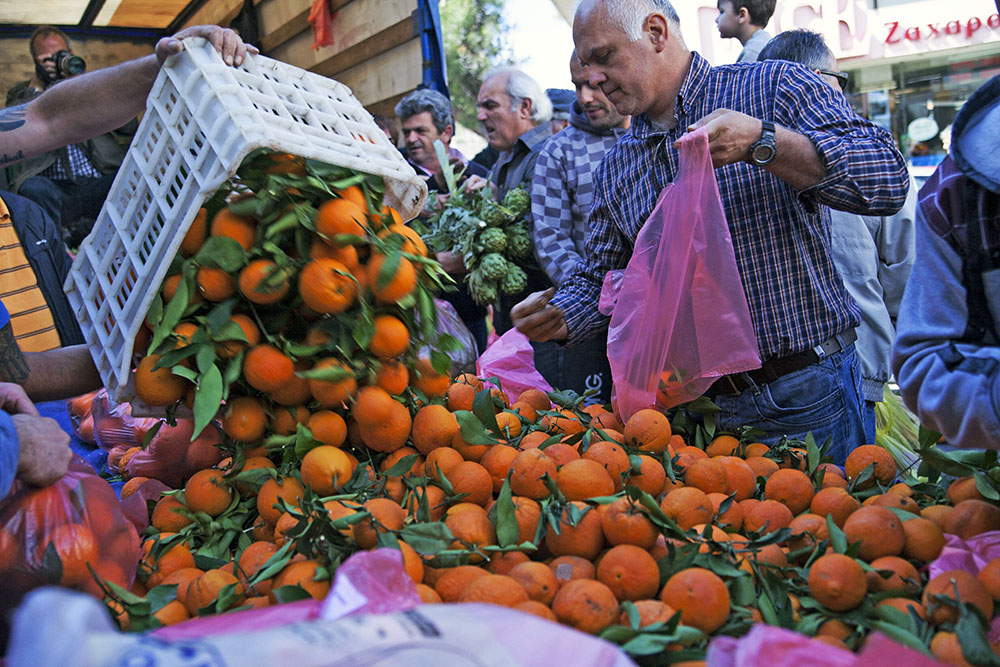 Митинг фермеров в Греции