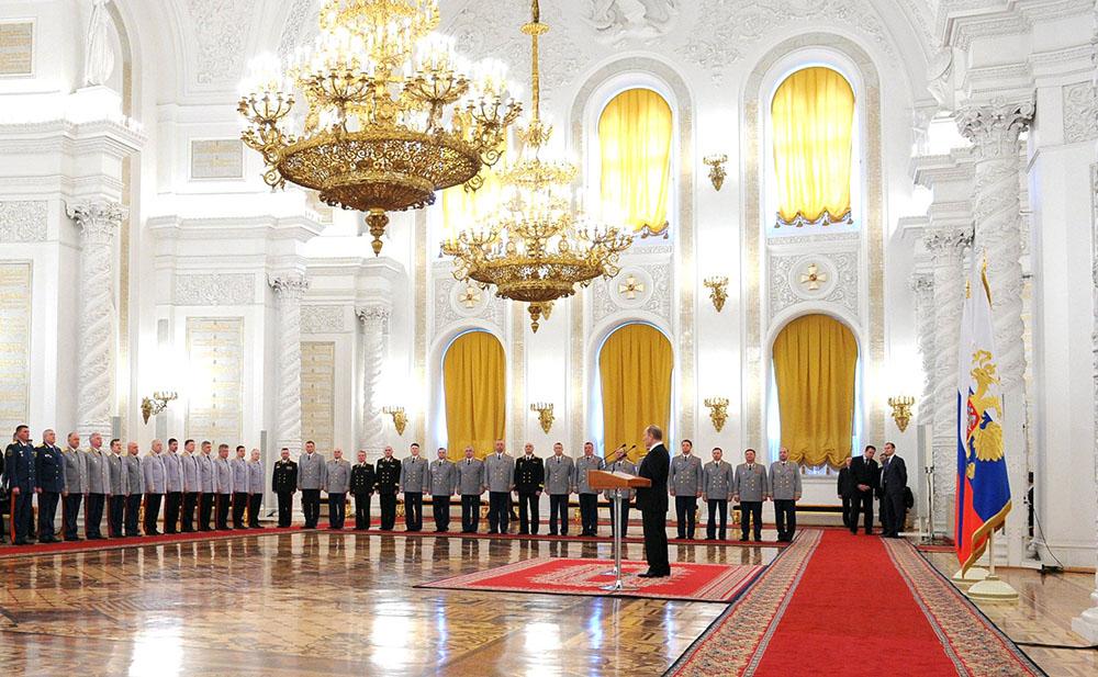 Торжественная церемонии представления высших офицеров в Кремле