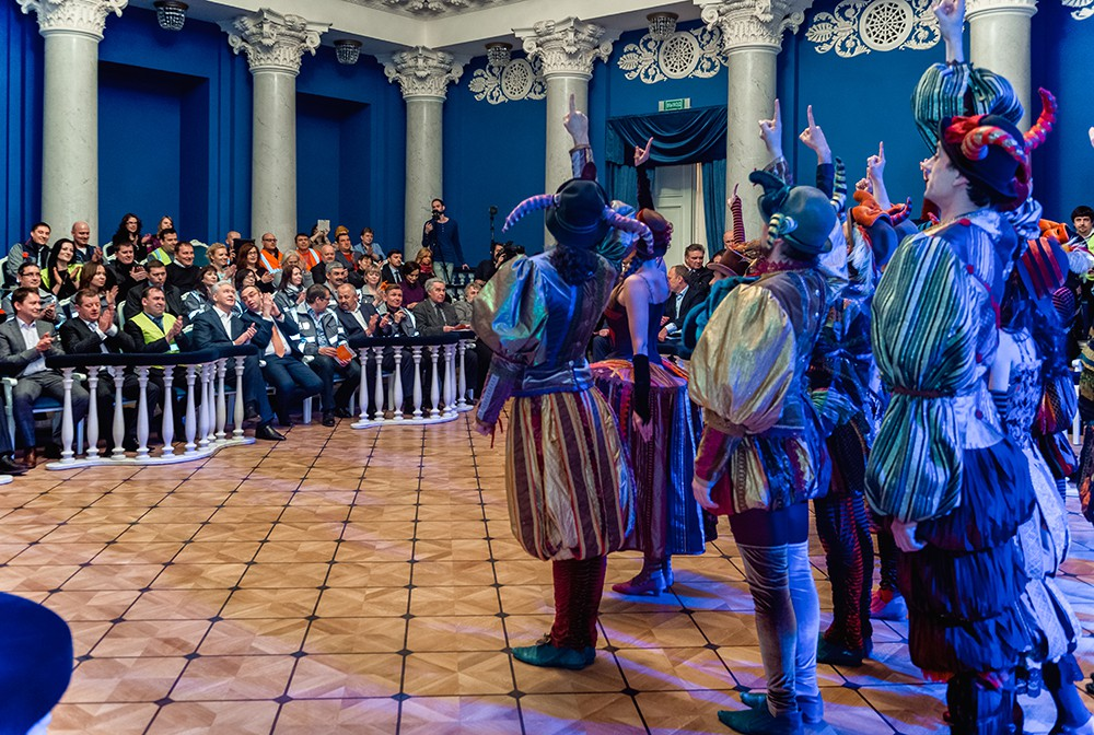 Осмотр хода реставрации Московского музыкального театра «Геликон-опера»