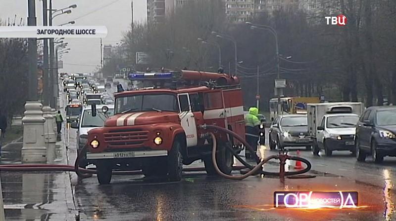 Пожарная машина на метре ЧП