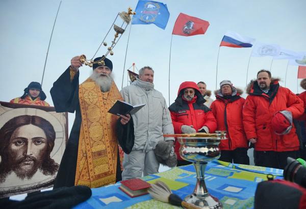 """Открытие дрейфующей станции """"Северный полюс-2015"""" в Северном Ледовитом океане"""
