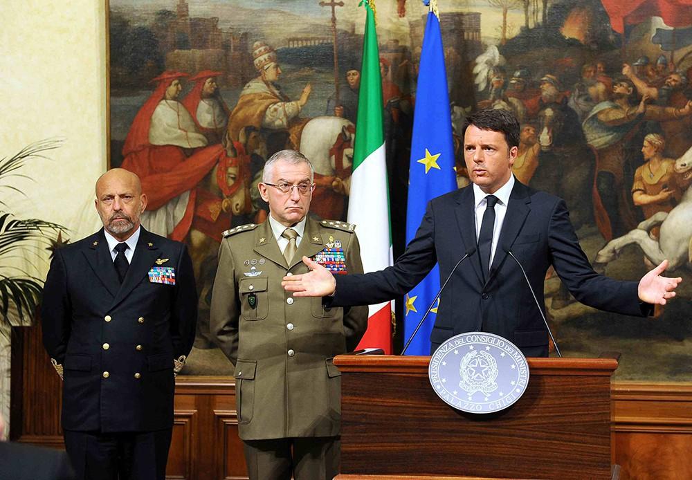 Пресс-конференция премьер-министра Италии Маттео Ренци
