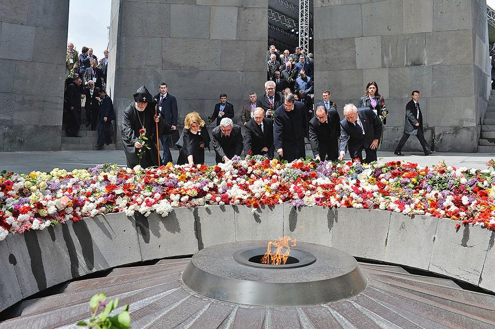 Церемония поминовения жертв геноцида армян