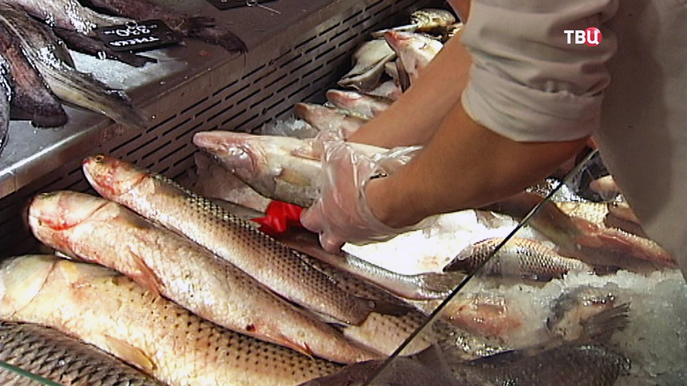 Рыбный отдел в супермаркете