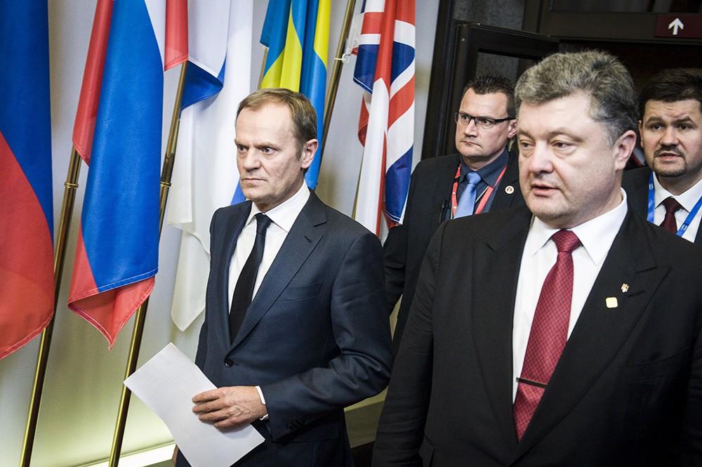 Дональд Туск и Петр Порошенко