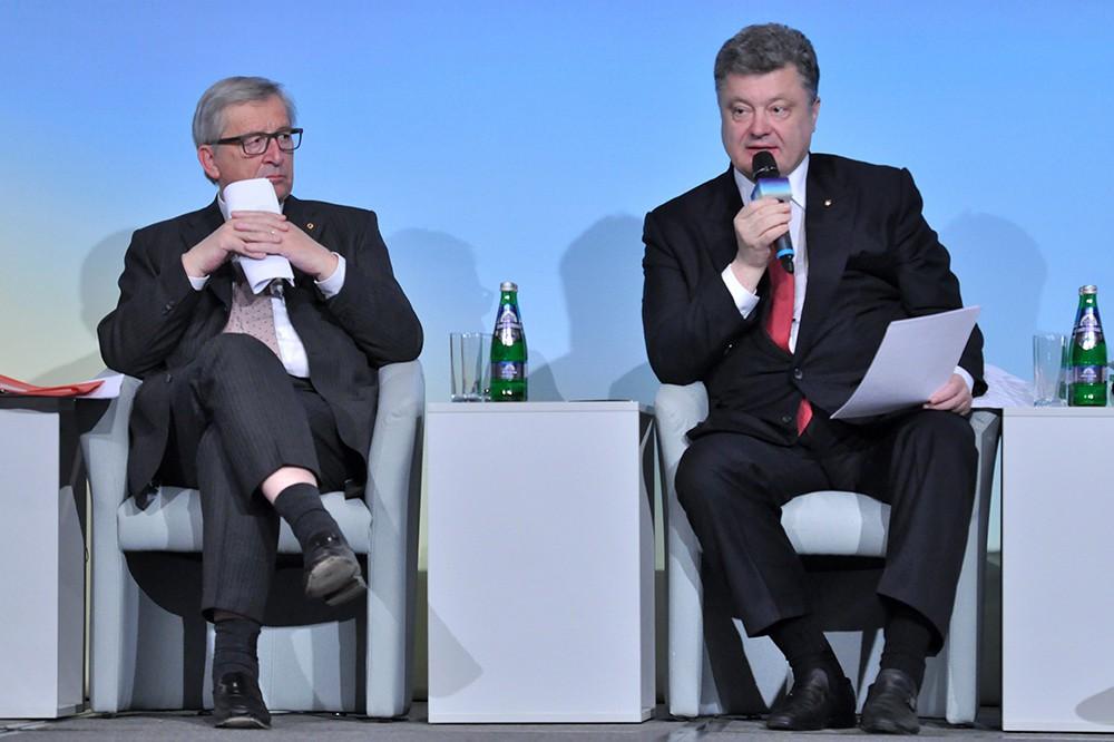 Президент Украины Петр Порошенко на международной конференции в поддержку Украины