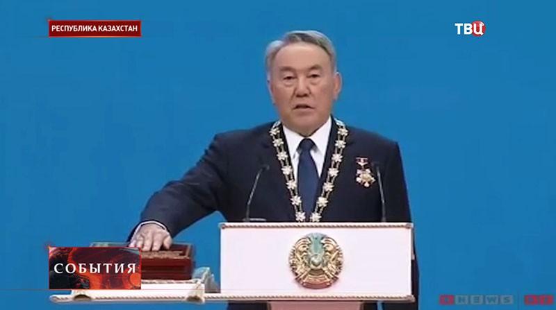 Церемония инаугурации Нурсултана Назарбаева в Казахстане