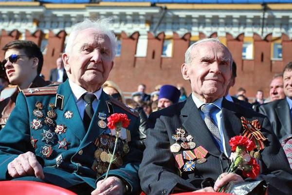 Ветераны на Красной площади