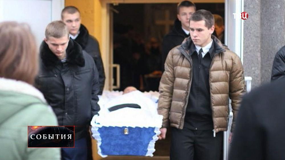Похороны погибших курсантов речного училища Петрозаводска