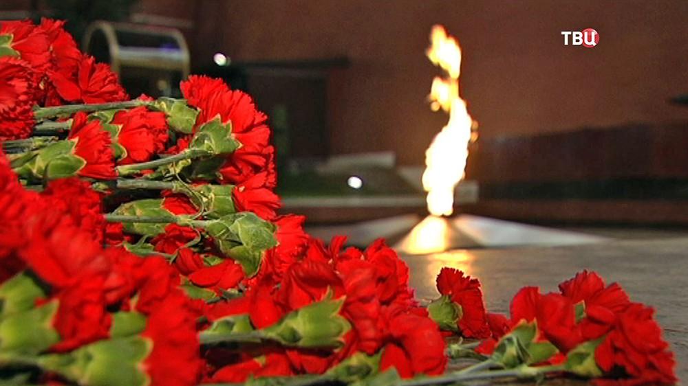 Вечный огонь в Александровском саду
