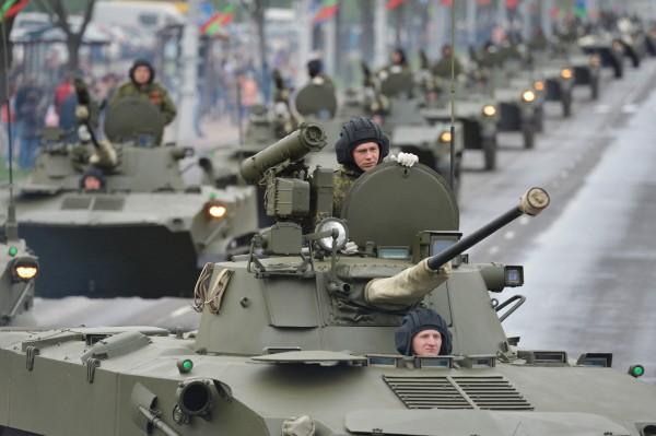 Репетиция парада обеды в Минске