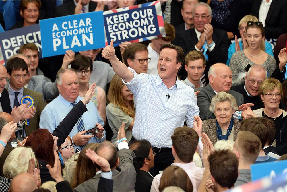 Дэвид Кэмерон на предвыборном митинге