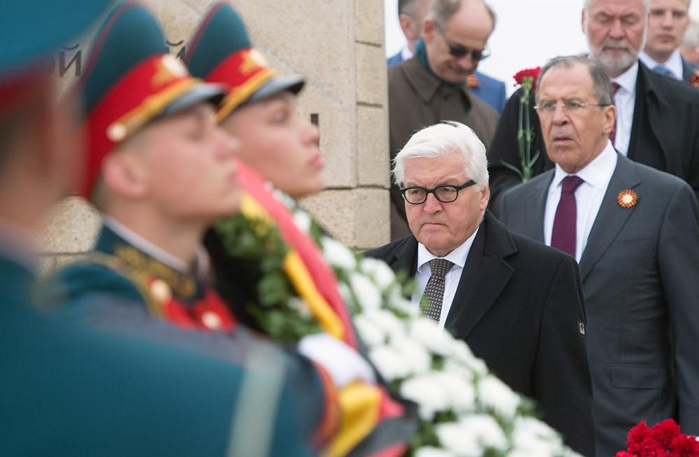 Франк-Вальтер Штайнмайер и Сергей Лавров в Волгограде