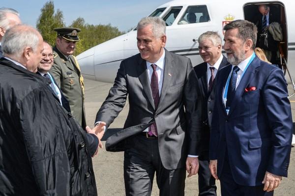 Президент Республики Сербия Томислав Николич прибыл в Москву