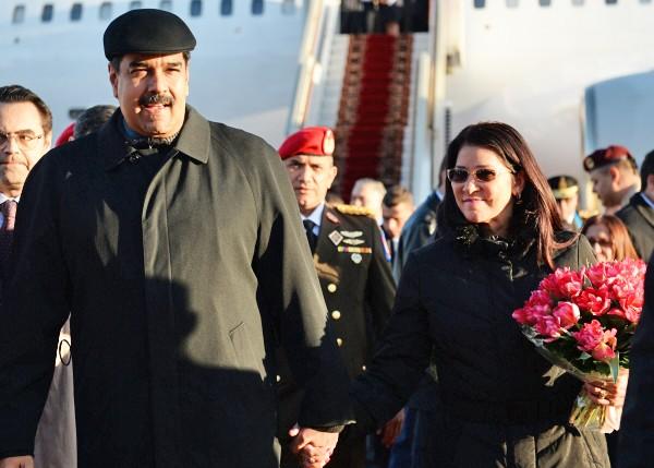 Президент Боливарианской Республики Венесуэла Николас Мадуро с супругой Силией Флорес прибыли в Москву