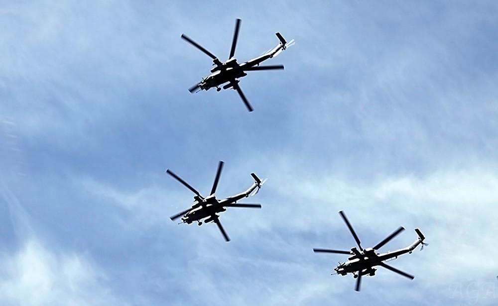 Пролет военных вертолетов