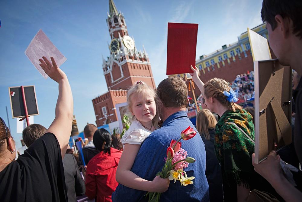Празднование Деня Победы в Москве