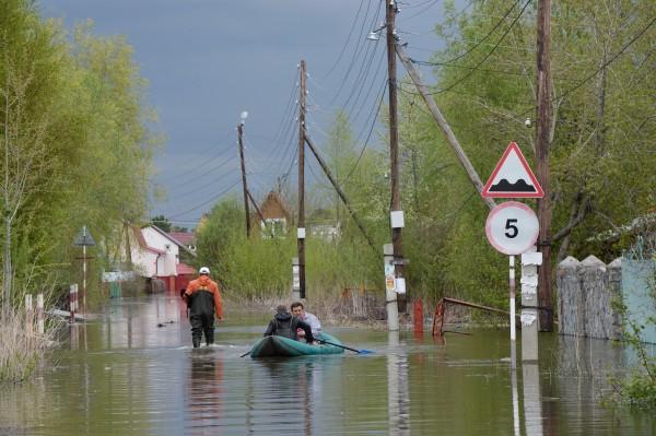 Подтопленные дачные участки в Советском районе Новосибирска