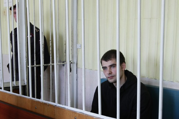 Активист Евромайдана Александр Костенко в зале суда