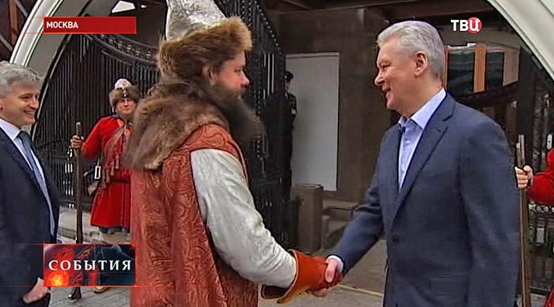 Сергей Собянин у археологического музея