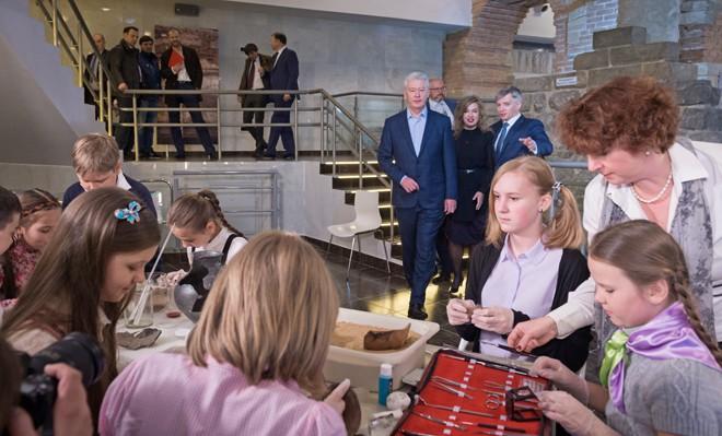 Сергей Собянин на открытии Музея археологии