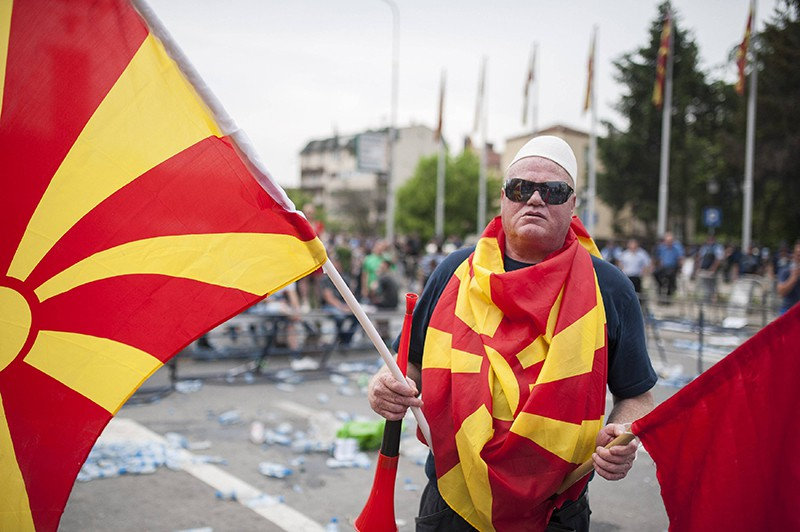 Акция протеста в Македонии