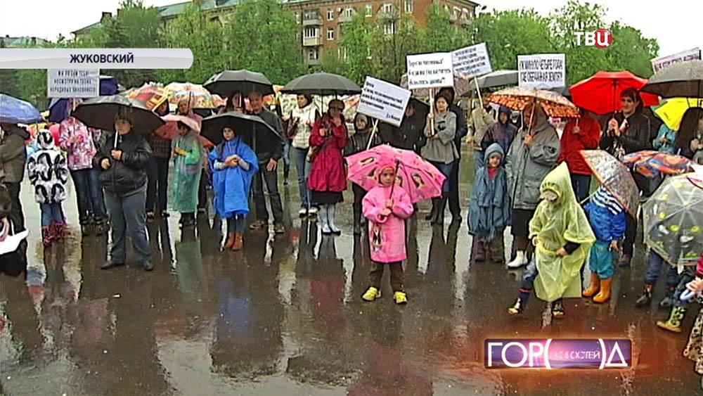 Многодетные семьи вышли на митинг в Жуковском