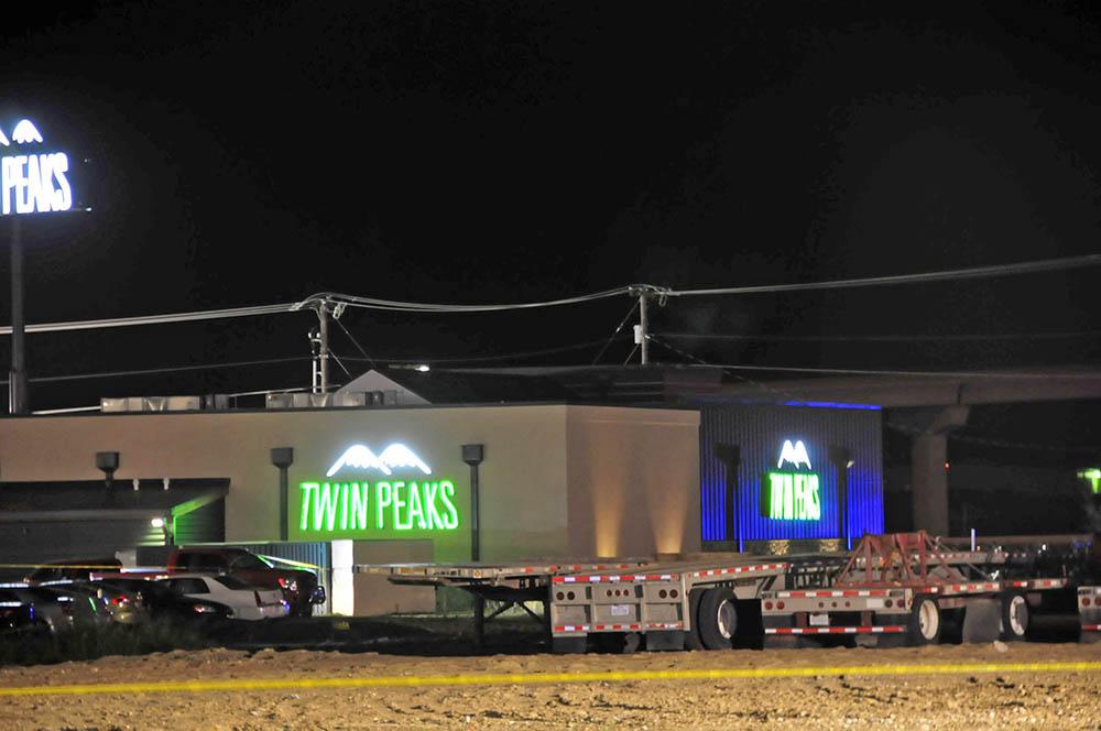 Место массовой драки в Техасе